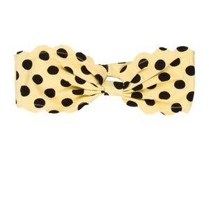 Marysia Swim Antibe Yellow Polka Dot Bikini Top XS